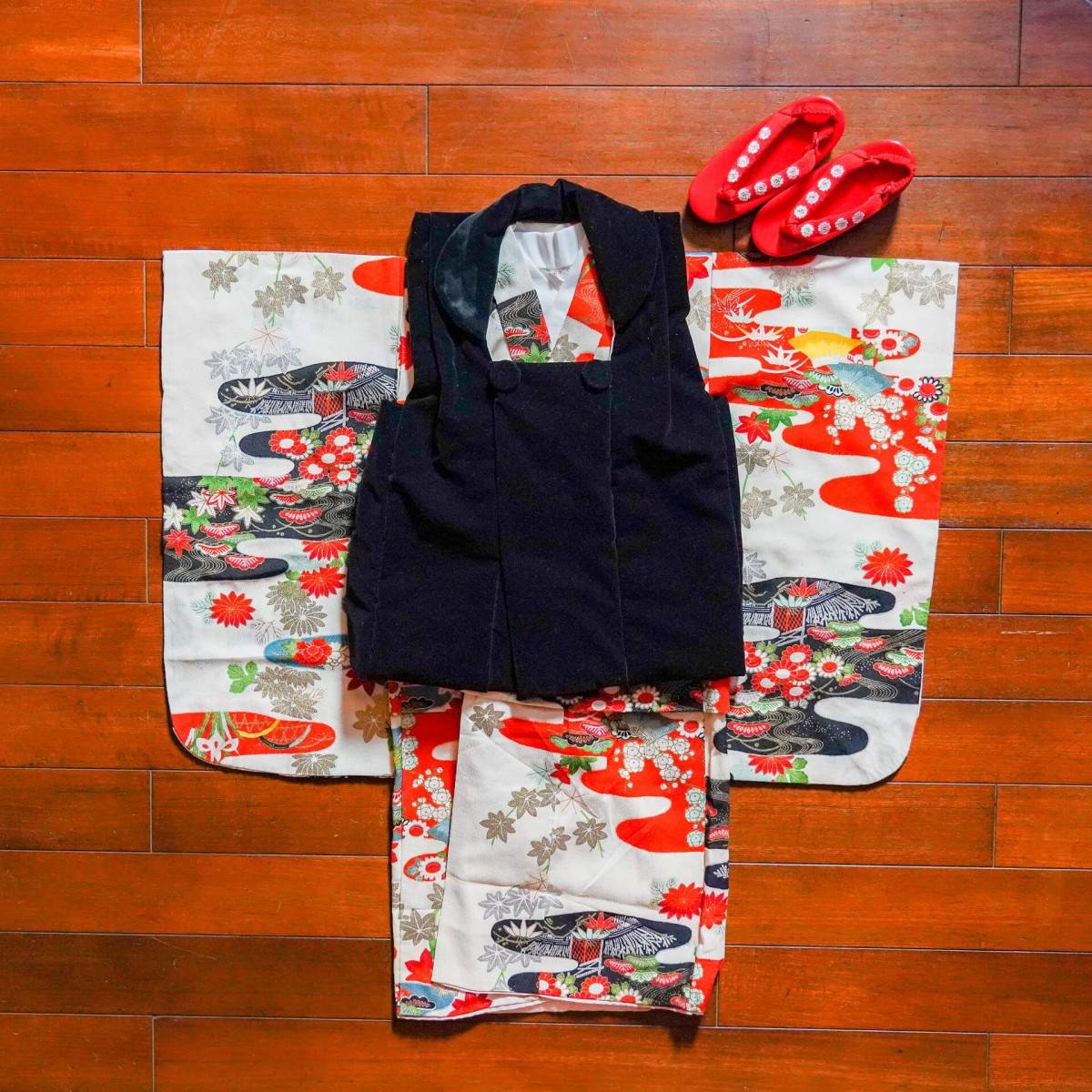 七五三アンティーク着物  三歳 女の子